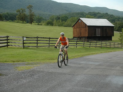 Biking at Mountain Pond House